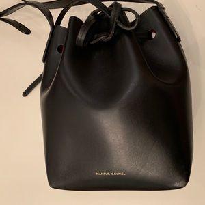 Mansur Gavriel Mini Mini Bucket Bag (Black/Flamma)